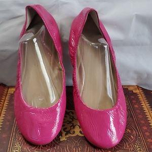 AQUA leather pink ballet slip on shoe Sz 7.5
